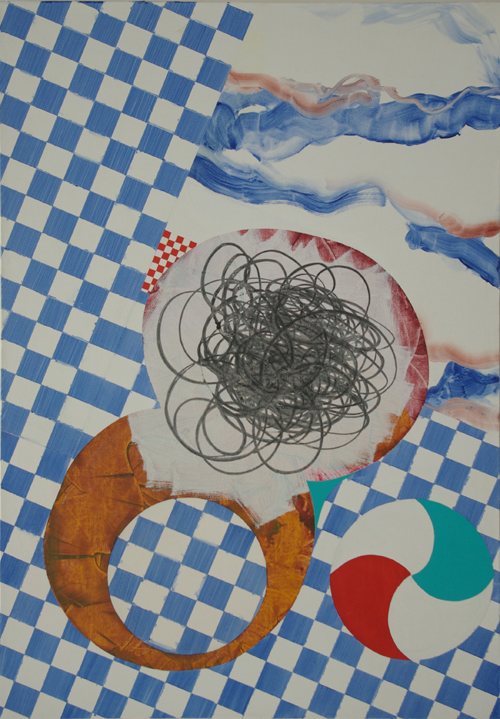 'Delft' 2009, Cath Ferguson, Acrylic on Gesso, 80cmx120cm