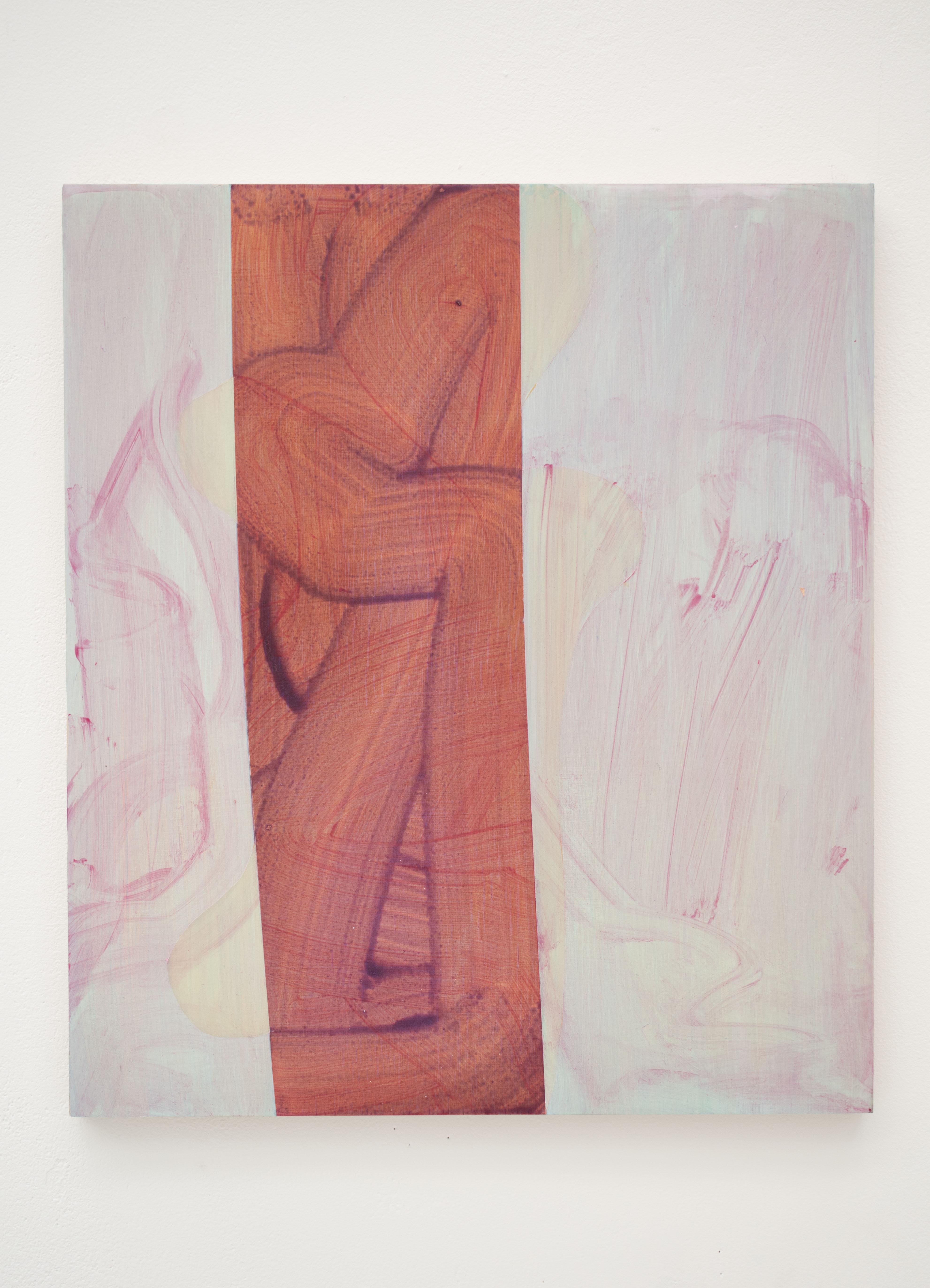 Anamorphic 3, 2021, Acrylic on Birch Ply, 40cm x 45cm