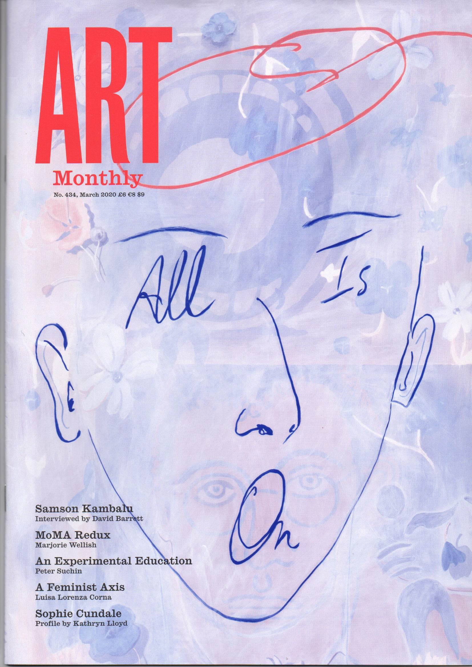Reviewed in Art Monthly March 2020 by Peter Suchin