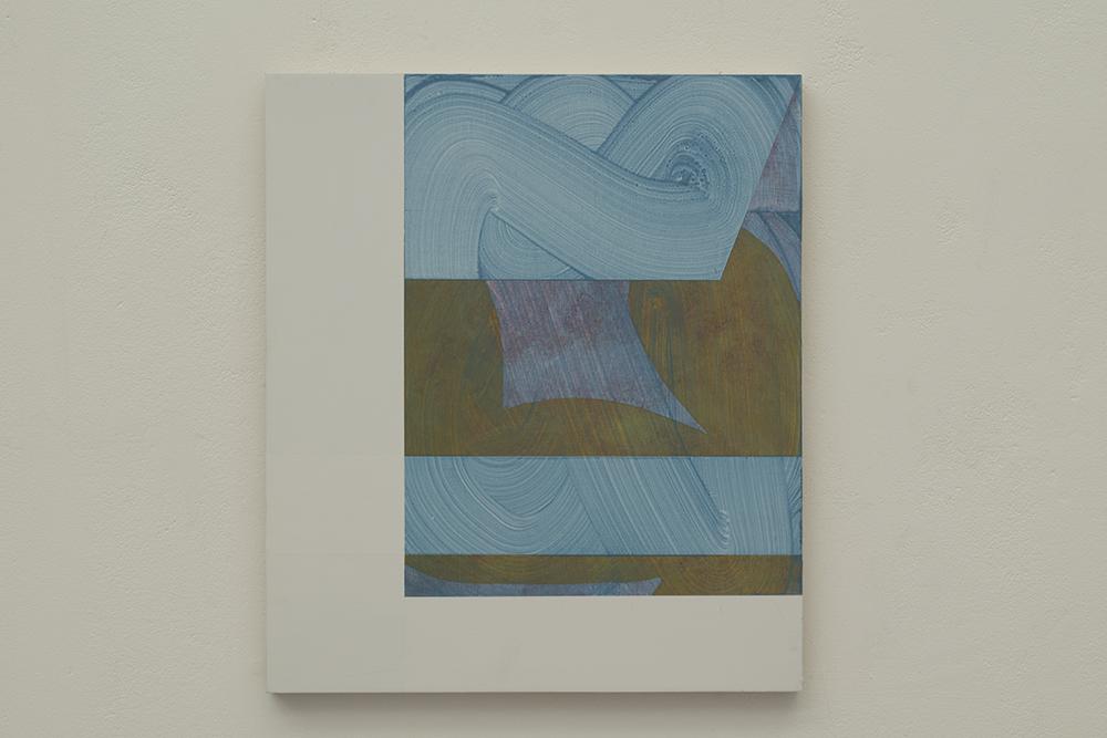 LM No.1, 2019 Acrylic on Birchply, 40cm x 34.5cm
