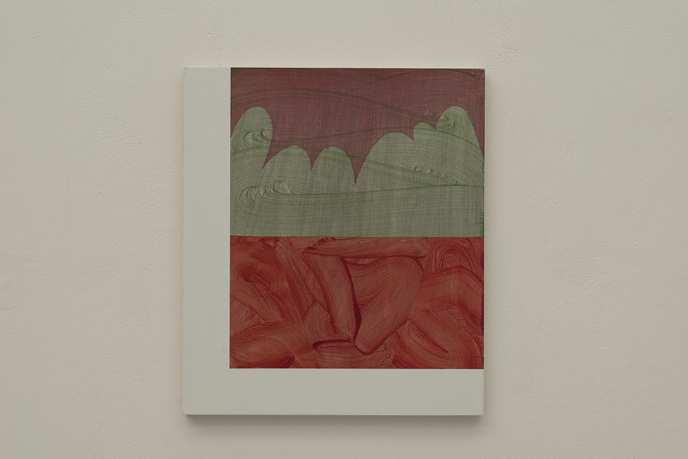 LM No.2, 2019 Acrylic on Birchply, 40cm x 34.5cm